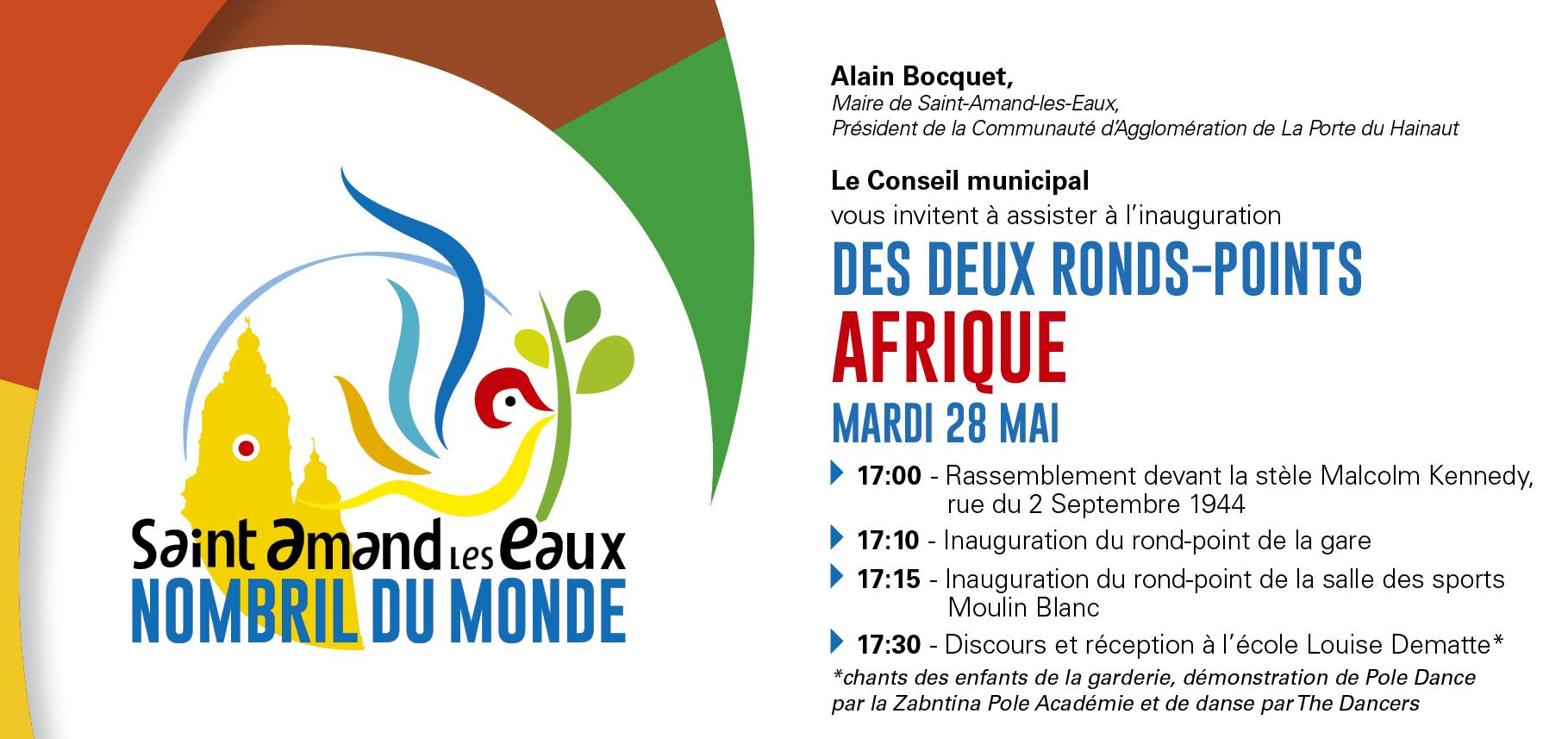 Inauguration ronds points afrique ville de saint amand - Piscine saint amand les eaux horaires ...